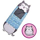 for Kids Sleeping Bag Shark Sleeping Shark Pillow & Sleepy Sack- Comfy, Cozy, Compact, Super Soft, Warm, All Season, Sleeping Bag with Pillow 54'x 20', Husky