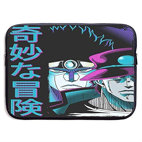 Hdadwy Jo-Jos Bizarre Adventure Laptop Sleeve Bag Notebook Computer, Water Repellent Polyester Protective Case Cover Theme Design Laptop 15 inch