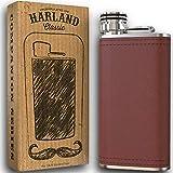 Harland 8 oz Wide Mouth Premium Pocket Flask 18/8#304 Stainless Steel Highest Food Grade | Soft...