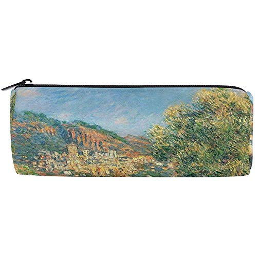 Pencil Case Monet's Road to Monte Carlo Pen Bag Studenten Stationery Opbergtas, Make-up Pouch Portemonnee