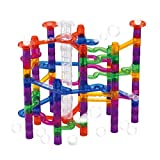 LeQi Marble Run Sets 97Pcs Marble Maze Game Building Toy for Kid, Marble Track Race Set Learning Toy Gift for Boy Girl