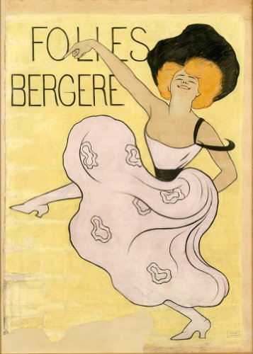 Französischer Vintage Moulan Rouge Centres BERGERE von LEONETTO CAPPIELLO 250gsm ART CARD Gloss A3 Reproduktion