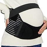 NeoTech Care Pregnancy Support Maternity Belt, Waist/Back/Abdomen Band, Belly Brace, Black, Size M