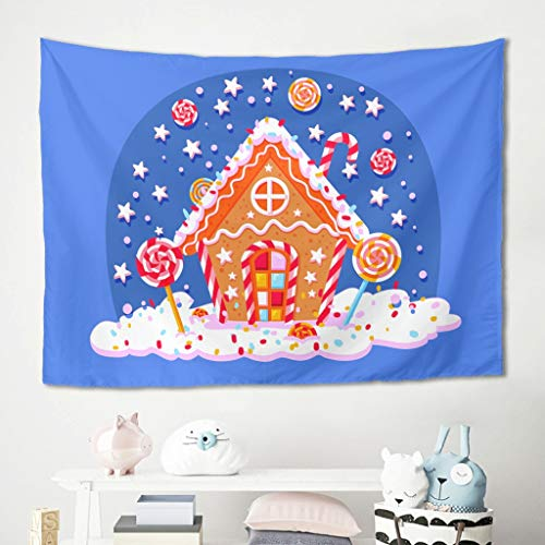 Etmriy Tapestry Christmas Tree New Year Boho Wall Art - Picnic Blankets for Bedroom White 40x59 inch