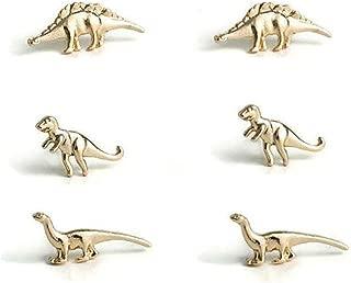 Set stud earrings animal dinosaur 925 Silver stud wedding jewelry earrings