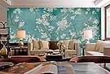 3D Fototapete 3D Effekt Blaue Apfelblüte Weiße Blume Ölgemälde Tapete Vlies Wandbild Wohnzimmer Hintergrundbilder Wanddeko