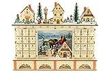 Clever Creations - Calendario de Adviento con 24 cajoncitos - Madera y Luces LED - Funcion...