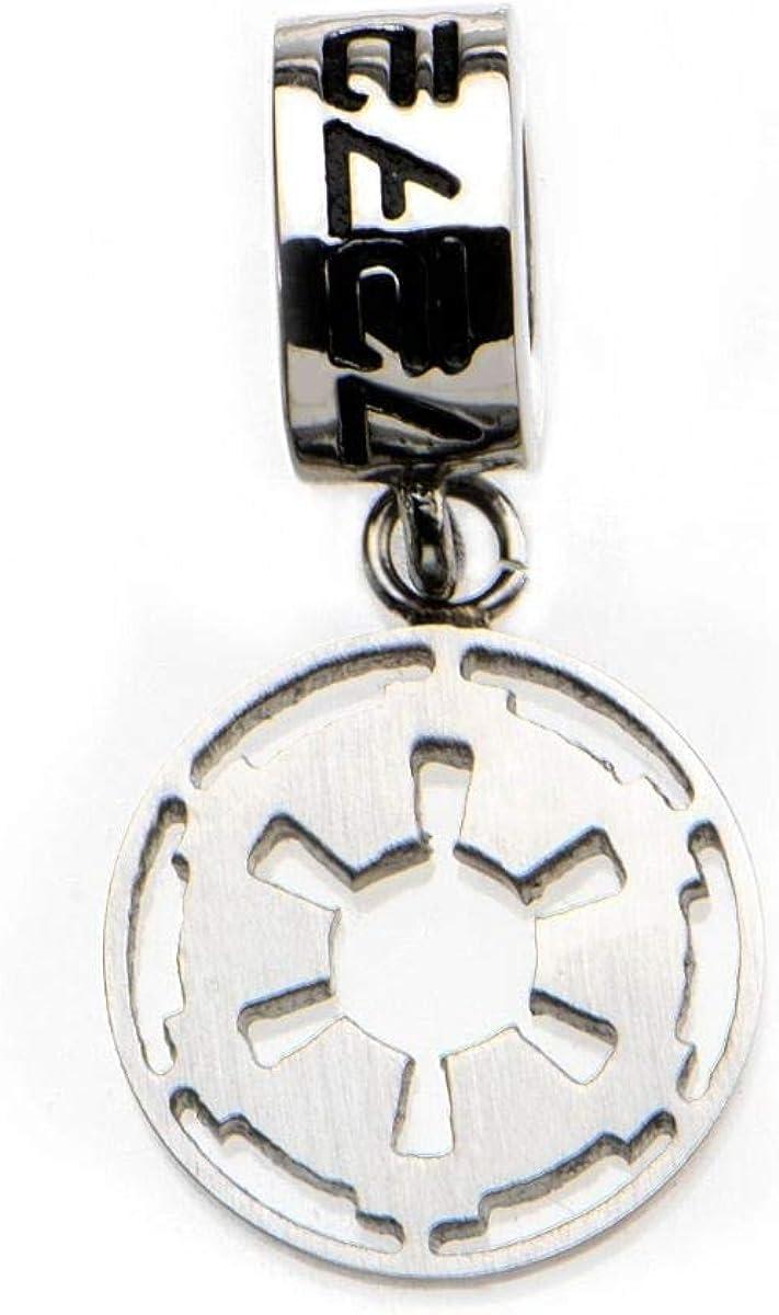 Disney Star Wars Stainless Steel Galactic Empire Symbol Dangle Charm