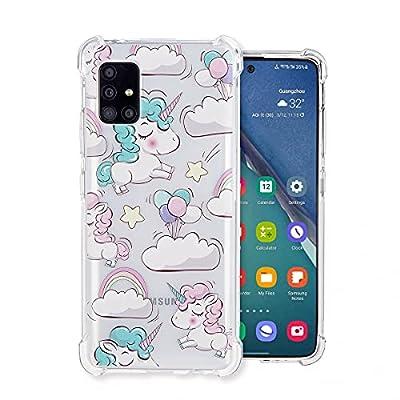 Funda de TPU para Samsung Galaxy A51 5G, resistente a los golpes, con 4 esquinas, protección antigolpes (unicornio) Slim TPU Bumper Case Backcover