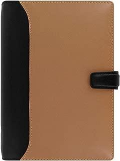 Filofax 2019 Personal Nappa Organizer, Leather, Taupe/Black, Paper Size 6.75 x 3.75 inches (C025136-19)