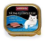 animonda Vom Feinsten Adult Katzenfutter, Nassfutter für ausgewachsene Katzen, mit Lachs + Shrimps, 32 x 100 g