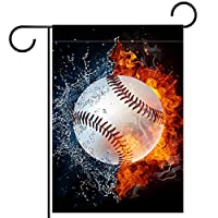 ガーデンヤードフラッグ両面 /12x18in/ ポリエステルウェルカムハウス旗バナー,火水域野球