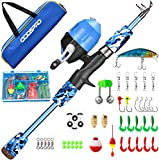 ODDSPRO Kids Fishing Pole, Portable Telescopic Fishing Rod and Reel Combo Kit - with Spincast...