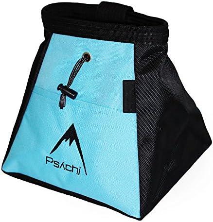 Psychi - Bolsa de magnesio para Escalada en Bloque - Compartimento Frontal y Bolsillo Trasero con Cremallera