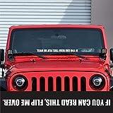 Flip Me Over Windshield Sticker Banner Vinyl Decal Off Road Car Truck SUV Bumper Sticker Fits Jeep Wrangler JK