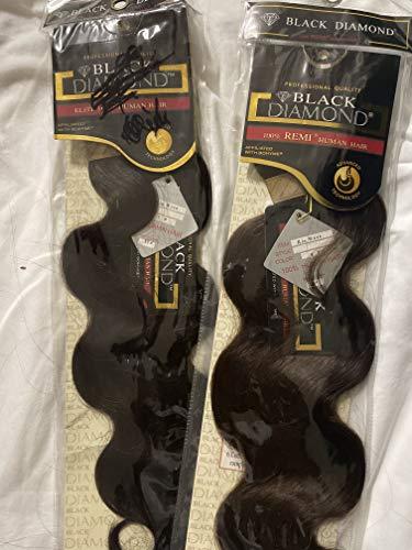 "BLACK DIAMOND 100% REMI HUMAN HAIR RIO WAVE 14""-Solid Color"