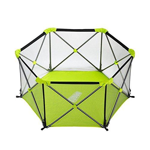 Portable Baby-Parc Pliable Sécurité Enfant Sécurité Intérieure Et Extérieure Clôture pour Animaux De Compagnie Facile à Transporter (Couleur : Green)