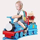 Tren de juguete, Tren de juguete, puede tomar asiento del coche eléctrico del juguete con remolque caja de almacenamiento de un pequeño tren conjunto con la pista del regalo de los niños for los niños