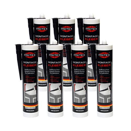 Montagekleber weiß 7 x 300ml Styroporkleber Baukleber Leistenkleber Kleber