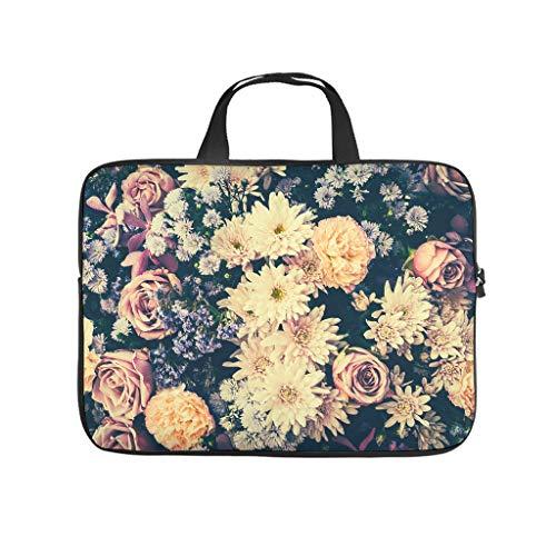 Funda para portátil con diseño de flores de crisantemo, impermeable, de neopreno, para portátil, funda para tablet, accesorio