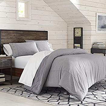 IZOD Riley 100% Polyester Comforter Set All Season Light Weight Super Soft and Machine Washable Made with Heathered Fabric King Gray