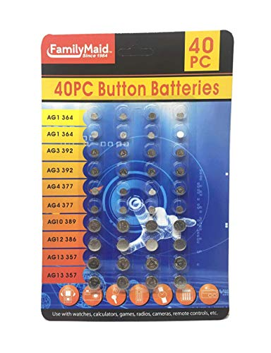 40 PC Assorted Button Batteries
