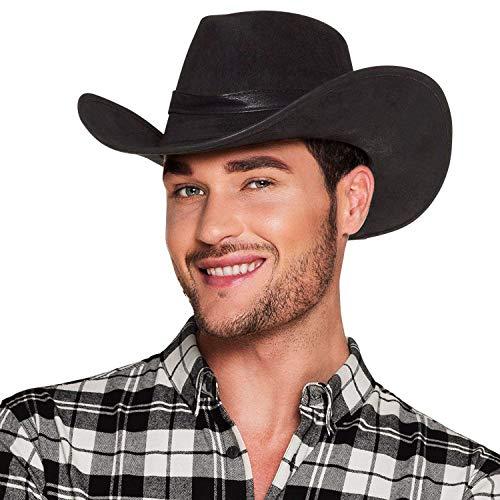 Boland 29280 - Casquette Cowboy Wyoming effet cuir, noir