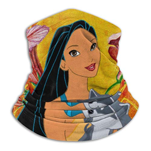 NA Anime Pocahontas and Meeko Ultimate Soft Skin-Friendly Neck Warmer Face Mask Protective Banda Headband Super Moisture Wicking Protective Banda Headband Beanie