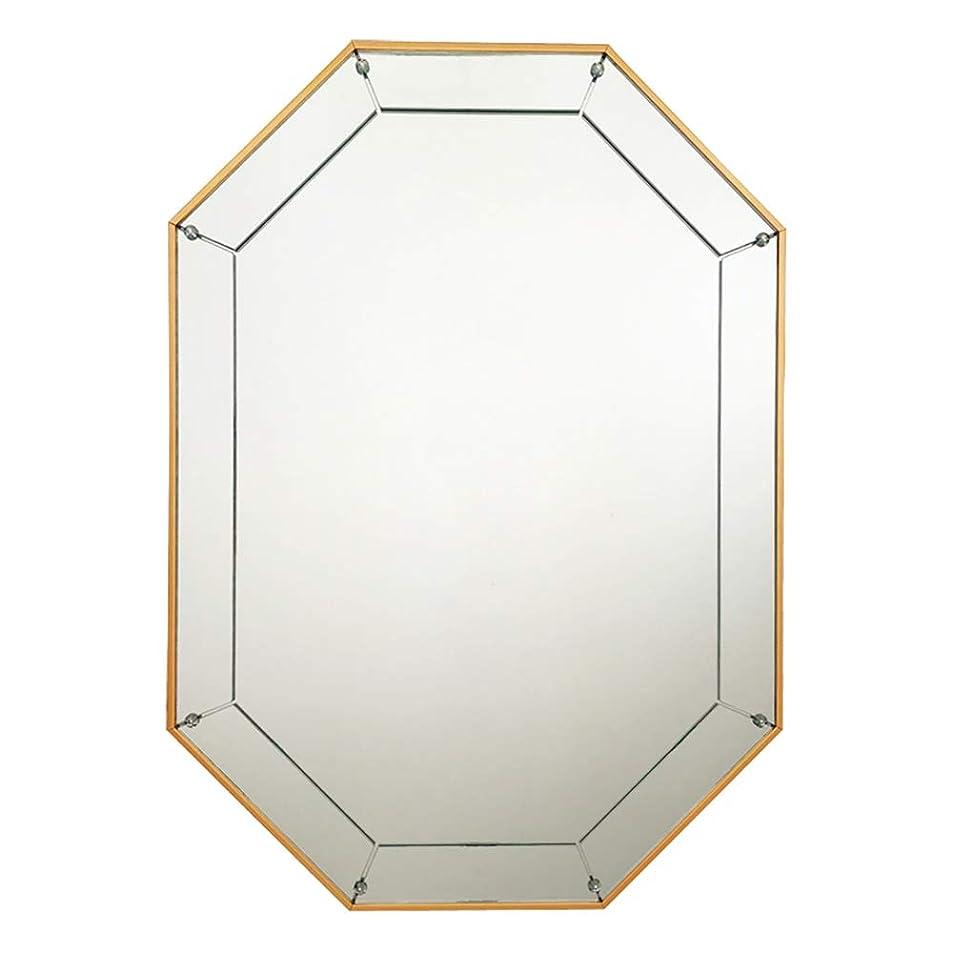 服を洗う王朝馬鹿げたウォールマウントメイクアップミラー、ノルディッククリエイティブオクタゴン起毛フレーム壁掛けミラードレッサーミラー装飾玄関リビングルームのバスルーム,金