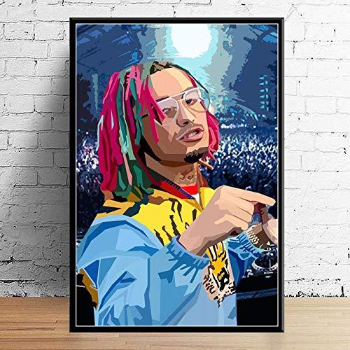GaoDashan Juice Wrld J Cole Post Malone Mac Miller Travis Scoot Rapper Hip Hop Star Art Decor Lienzo Decoración para el hogar Póster Decoración de Pared 50x70 cm (19.68x27.55 in) A-953