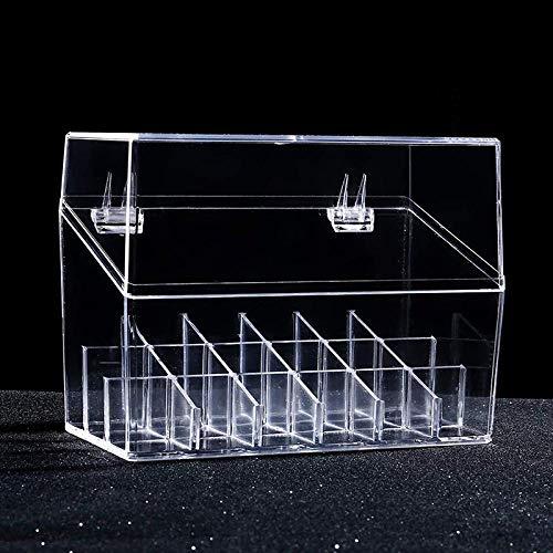 LQLQ Transparenter Lippenstift Aufbewahrungsbox Grid Makeup Manager