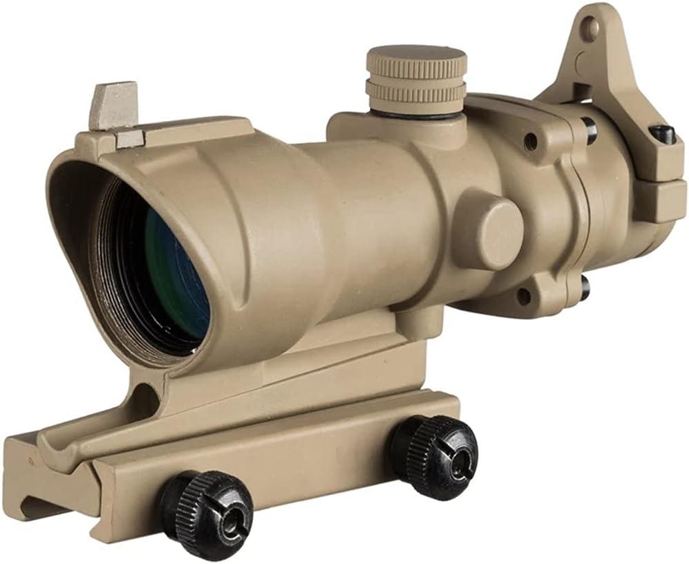 ACEXIER Mira telescópica 4X32, mira telescópica de mira de Francotirador con Montura de riel Picatinny de 20mm, tácticas de Caza, Pistolas de Airsoft, mira óptica