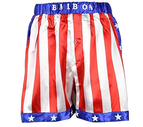 Rocky Balboa Apollo Herren Boxershorts mit amerikanischer Flagge -  -  X-Large