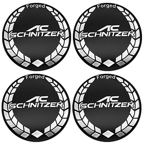 NCUIXZH 4Pcs 56mm Car tire Cover Decal Wheel Center Hub Cap Sticker, for BMW AC Schnitzer M 3 5 6 Z E E46 E39 E36 E34 X1 X3 X5 X6