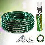 All4You GARTENSCHLAUCH 3/4 Zoll 30 m grün WASSERSCHLAUCH Schlauch mit Armaturen 4-LAGIG