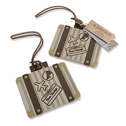 "60 ""Let The Journey Begin"" Vintage Suitcase Luggage Tag"