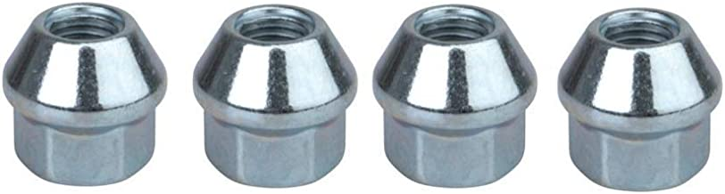 Tusk OEM Style Tapered Chrome Lug Nut 10mm x 1.25mm Thread Pitch (4 pack) for Yamaha GRIZZLY 125 2004-2013