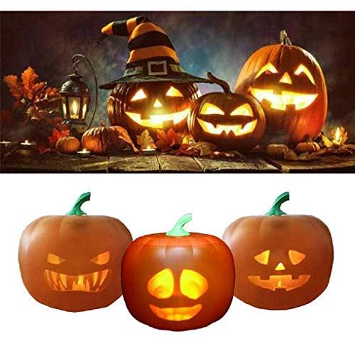 Pumpkin Projector, Halloween 3-in-1 Talking Animated Pumpkin with...