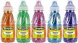 Cleopatre - PP250x5A - Pack de 5 frascos de pintura al agua con purpurinas, 250 ml, colores primarios