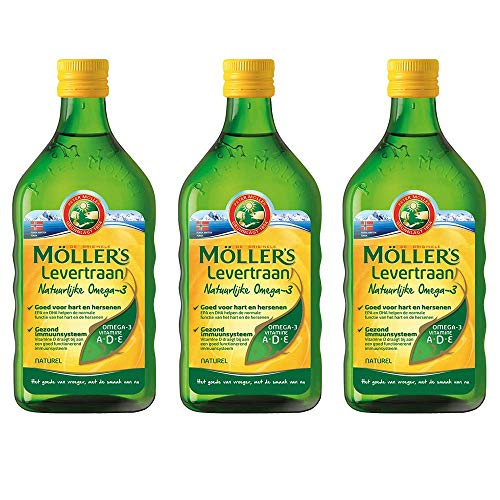 Möller's Omega-3 levertraan natuur (250 ml) - 3-pack