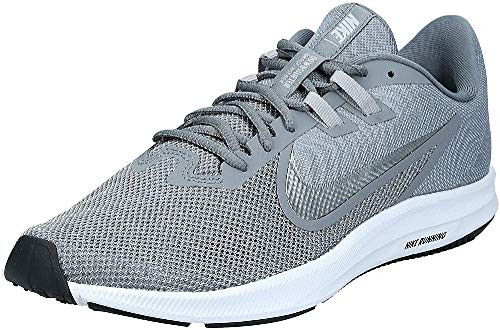 Nike Herren Downshifter 9 Laufschuhe, Grau (Cool Grey/Metallic Silver-Wolf Grey-Black-Pure Platinum-White 001), 45 EU