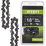 8TEN Chainsaw Chain 18 Inch Bar .063 Gauge .325 Pitch 68 Dirve Links for Stihl Husqvarna