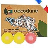 Aecodune Recarga de alcachofa ducha antical con vitamina C - filtros de agua y cloro - relajación en casa - bolas de iones negativos - Esencias Naturales - rosa limón x2