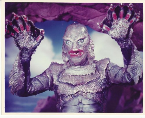 Creature from the Black Lagoon 8x10 Photo the Creature hands up #1