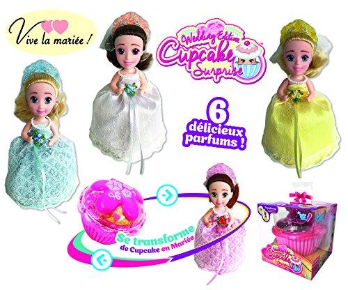 Cupcake Surprise, verwandelt Sich in eine 14 cm rauchige Puppe, Thema Hochzeit, inklusive Diadem und Bürste, Modelle und Düfte zufällig, Spielzeug für Kinder ab 3 Jahren, CUP03