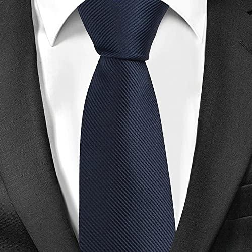 SQUATCH®   Cravate Slim 6cm   100% Polyester   Ultra doux et confortable   Lavable à 30° (Bleu marine)