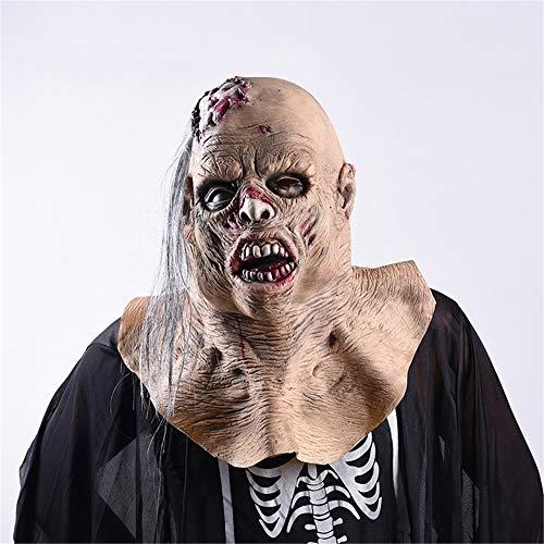 Horror Gesichtsmaske für Halloween Karneval Party Kostüm, Morbuy Karneval Party Kostüm Clown Maske des Grauens aus Latex für Erwachsene (One Size,Maske)