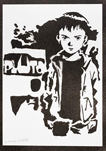 Atom Poster Pluto Plakat Handmade Graffiti Street Art - Artwork