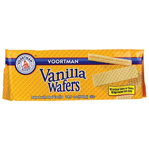 Voortman Bakery Vanilla Wafers, 14.1 oz., Pack of 4 – Wafers Baked with Real Vanilla, No Artificial Colors, Flavors or High-Fructose Corn Syrup