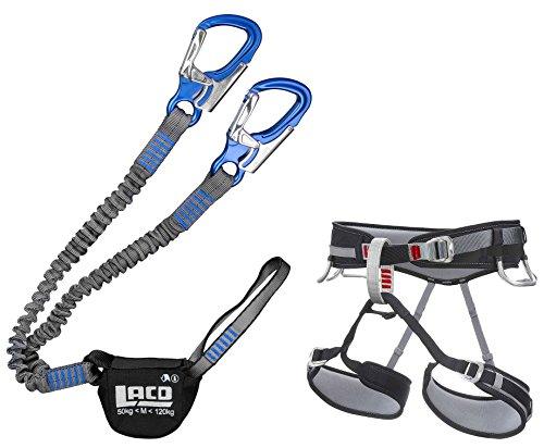 LACD Klettersteigset Pro Evo Blue + Gurt Start Größe L - Via Ferrata Set